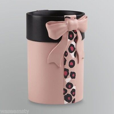 Hollywood Glam Pink Chic Lady Dress Gift Bow Animal Print Bath Tumbler Accessory