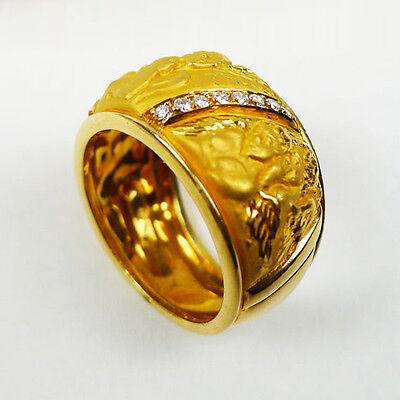 Carrera Y Carrera Angel Wedding Band Diamond 18k Yellow Gold Men's Ring Size 6.5