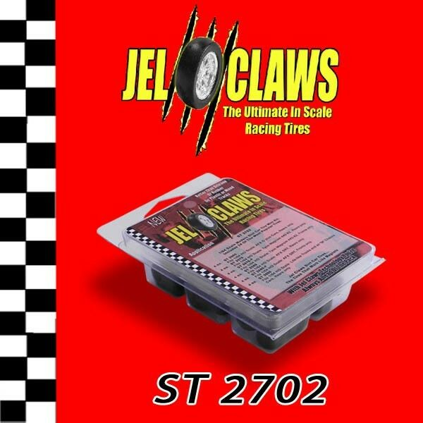 1/64 HO Scale AFX Slot Car Tires Jel Claws 24pk Fits G Chassis Tyco, Tomy
