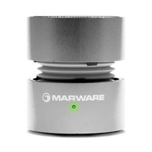 MARWARE UpSurge Portable Mini Speaker - Vacuum Bass - Rechargeable - Silver
