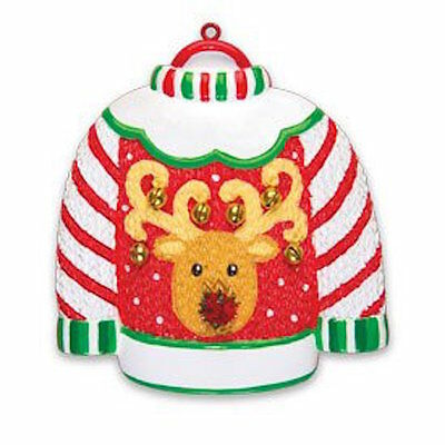 Personalized Christmas Ornament Ugly Sweater- BFFs, Coworkers, Crew Members Gift ()