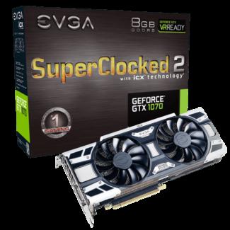 EVGA GeForce GTX 1070 SC2 GAMING iCX - Graphics Video Card