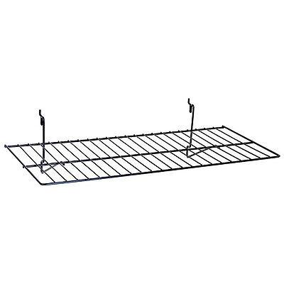 Flat Shelf Fits Slatwall Grid Pegboard In Black 23-12 W X12 D Inch - Box Of 8