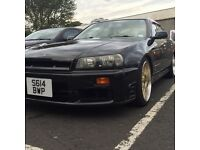 Nissan Skyline R34 GTT Neo 4 Door RB25det ( Not civic integra Evo Subaru 200sx 350Z RX7 drift )
