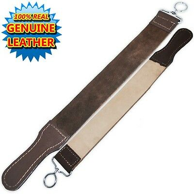 Professional Barber Leather Strop Straight Razor Sharpening Shave Shaving Strop
