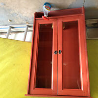 Red Display Wall Cabinet
