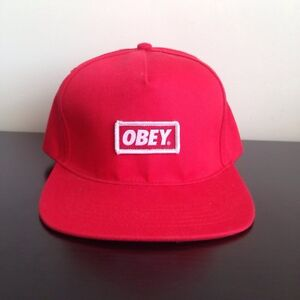 Red OBEY Snapback