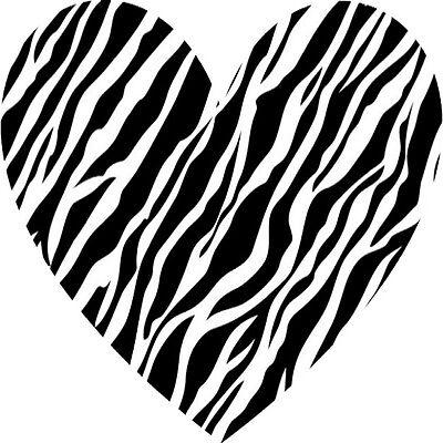 30 Custom Zebra Heart Personalized Address Labels