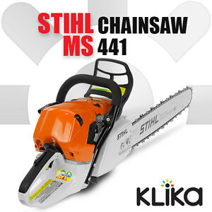 new 70 7cc stihl 20in ms 441 magnum petrol chainsaw ms441 ebay. Black Bedroom Furniture Sets. Home Design Ideas