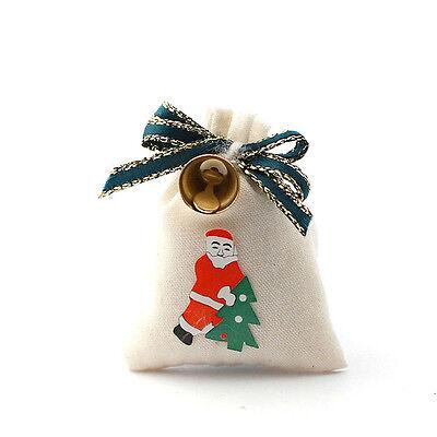 Santa's Sack with Bell, Dolls House Miniature Christmas Xmas Accessory