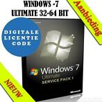 _windows 7 ultimate licentiecode oem 32 en 64 bits