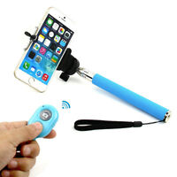 BLUE Selfie Stick Bluetooth Remote Extandable for Cell Phone