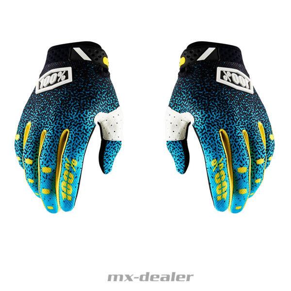 100/% Prozent Ridefit Handschuhe Cyan Schwarz MTB DH MX BMX Motocross Enduro 2018