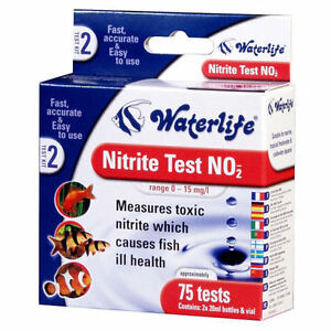 Waterlife nitrite water fish tank test kit no2 75 tests ebay for Nitrite in fish tank
