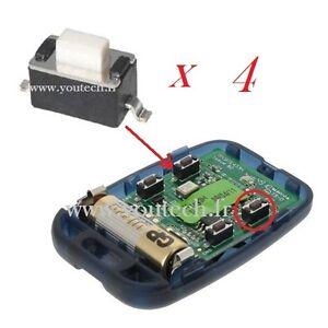 4 x switch bouton pour t l commande porte garage et for Meme telecommande pour portail et garage