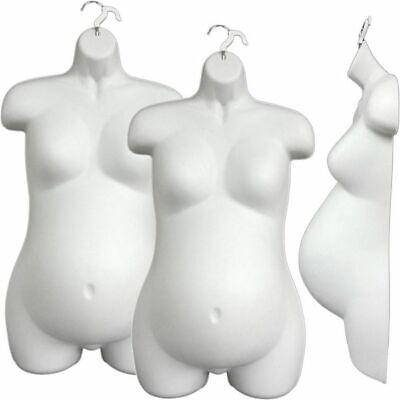 Mn-263 3 Pcs White Hanging Female Pregnant Maternity Upper Torso Body Dress Form
