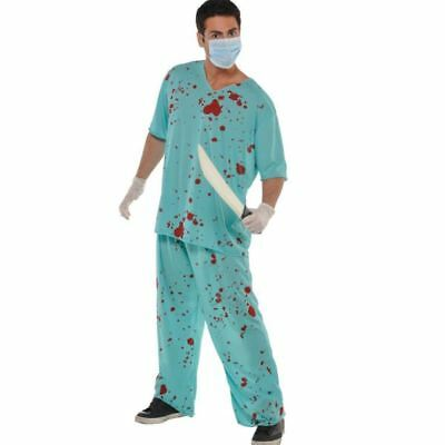 Bloody Unisex Scrubs Fancy Dress Costume Hospital