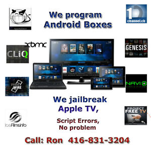 Get Android box, Apple TV 2 and Apple TV 4 programmed with Kodi