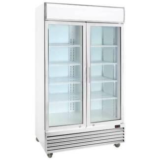 Double glass door colourbond upright drink fridge