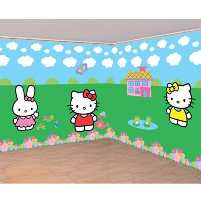 Giant Hello Kitty Birthday Party Room Roll Wall Scene Banner Decoration Kit (Hello Kitty-birthday Banner)