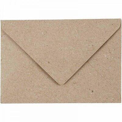 50 Briefumschläge Recyclingumschläge Kraftpapier - DIN C6 - 115 x 160 mm