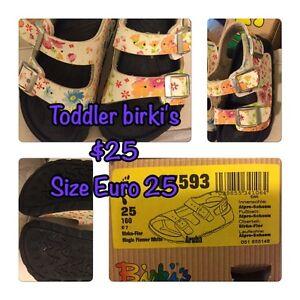 Toddler birki's size euro 25 (us9)