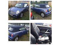 04 plate Mini Cooper convertible 1.6 petrol **motd till may 17**