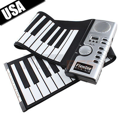 New 61 Keys Flexible Soft Portable Electric Digital Roll up Keyboard Piano Music on Rummage