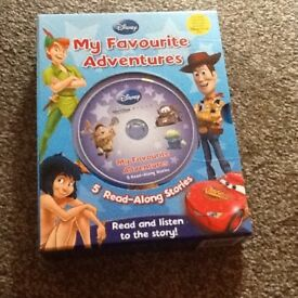 5 read-a-long Disney books and CD