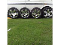Bentley 19 inch wheels and tyres.