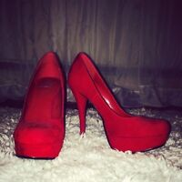 Red heels perfect condition
