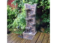 Wall and Bowl Cascading Water Feature (FREE LOCAL DELIVERY)