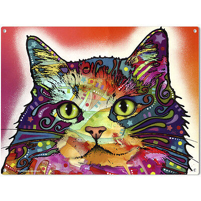 Ragamuffin Cat Dean Russo Pop Art Metal Sign Pet Steel Wall Decor 16 x 12