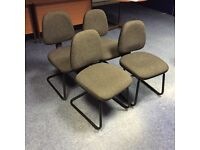 Office chairs, 4 matching for only ��40.00