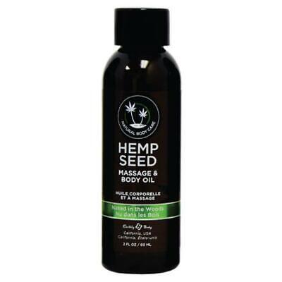 Hemp Seed Massage & Body Oil - Naked In The Woods (White Tea & Ginger) Scente...