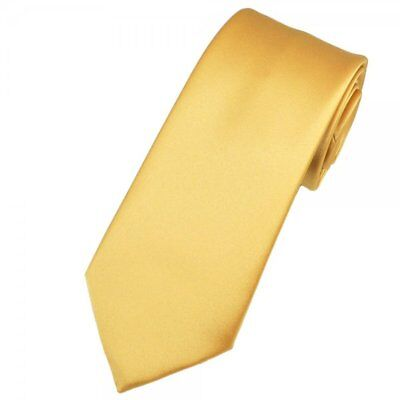 NEW  Gold Color Champagne Men's Wedding Business  Neck Tie  USA SELLER (Champagne Gold Color)
