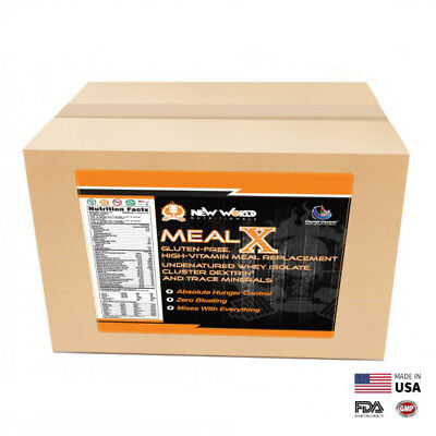 3lb MealX Bulk Meal Replacement Weight Loss Shake Gluten-Free CHOCOLATE ()