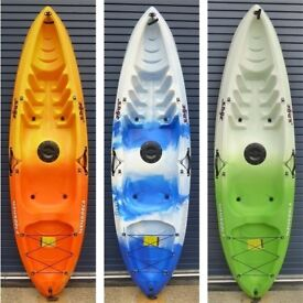 Mamboola Edge - Sit on Top single person kayak with back rest & paddle. Still at last years price.