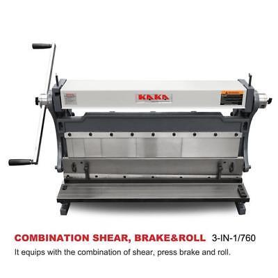 Kaka Industrial 30-inch Sheet Metal Brake Shears And Slip Roll Machine