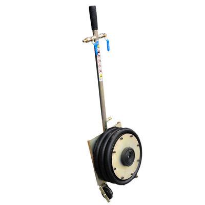 4 Pneumatische Räder (Pneumatischer Werkstatt Wagenheber 4,5t 4500kg verzinkt mit Gummiräder neu)