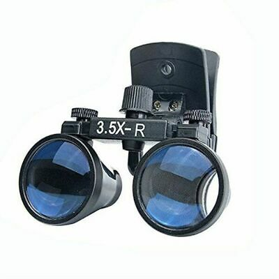 3.5x Dental Medical Binocular Loupes Clip-on Magnifier Dy-110 Black Us Stock