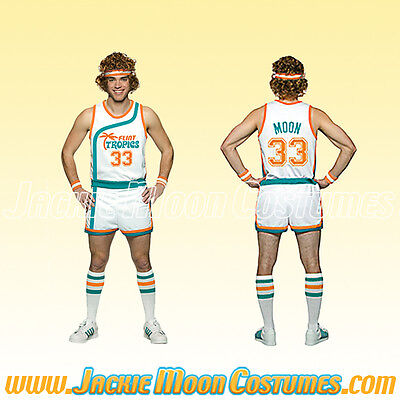 Jackie Moon Semi-Pro Jersey and Shorts Costume- Tropics Uniform Halloween Outfit](Semi Pro Costume Halloween)