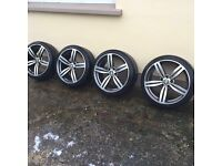 """M5 19"""" alloys with tyres"""