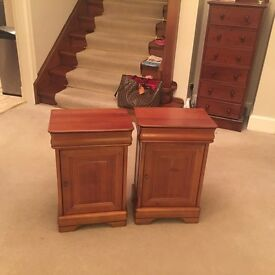 Beautiful wood bedside tables or side tables