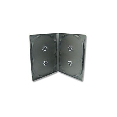 25 Xlayer DVD CD Hüllen 4fach 4er-DVD-Box schwarz eco (Eco Cd-hüllen)