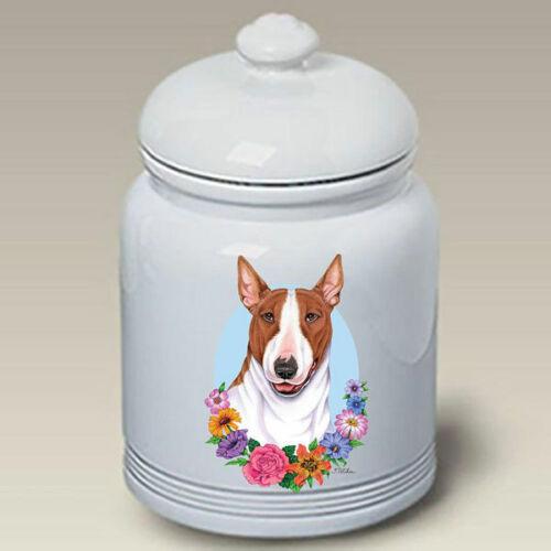 Bull Terrier Brown & White Treat Jar