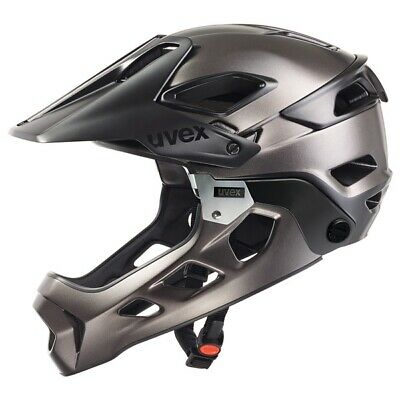 Uvex jakkyl hde Radhelm black-darksilver matt Downhill Helm MTB Helm Fullface