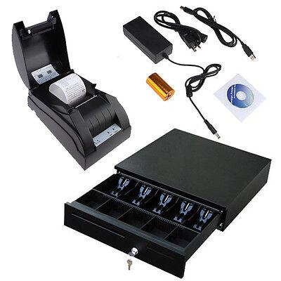 USB 58mm POS Thermal Dot Receipt Printer Set + Electronic Ca