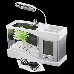 New-White-Mini-USB-LCD-Desktop-Lamp-Light-Fish-Tank-Aquarium-LED-Clock
