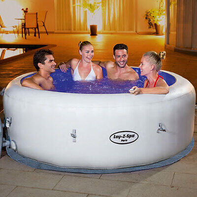 💦 Lay Z Spa Lazy Spa Paris Airjet with LED's Brand New Hot Tub FREE DELIVERY 🚚